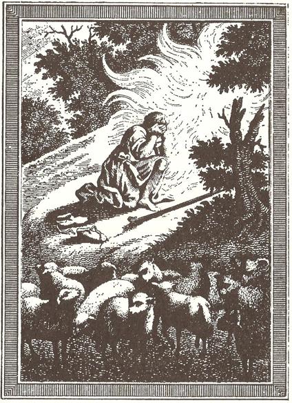06ke198002 Figure 2 • Moïse et le Buisson ardent.