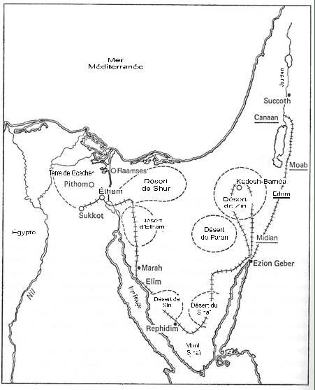 06ke198020 Figure 20 • La route de l'Exode.